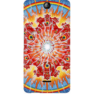 CopyCatz Psychedelic Eyes Premium Printed Case For Micromax Canvas Juice 3 Q392