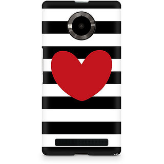 CopyCatz Red On Black And White Premium Printed Case For Micromax YU Yuphoria