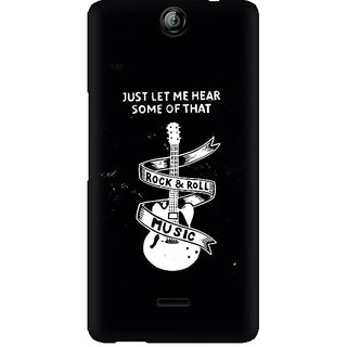CopyCatz Rock And Roll Premium Printed Case For Micromax Canvas Juice 3 Q392