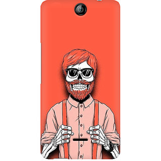 CopyCatz Skeleton Beardo Premium Printed Case For Micromax Canvas Juice 3 Q392
