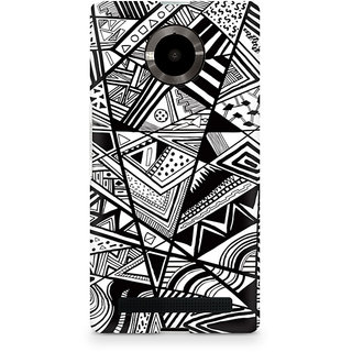 CopyCatz Black And White Abstrct Premium Printed Case For Micromax YU Yuphoria