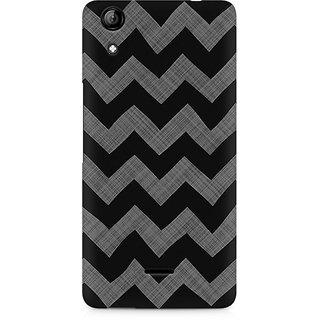 CopyCatz Cheveron Shades Of Grey Premium Printed Case For Micromax Canvas Selfie 2 Q340