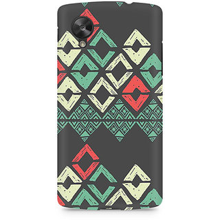 CopyCatz Grey Rhombus Premium Printed Case For LG Nexus 5