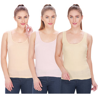 84f62083b305 Buy By The Way Womens Camisole Slip (Pack of 3) Online - Get 43% Off