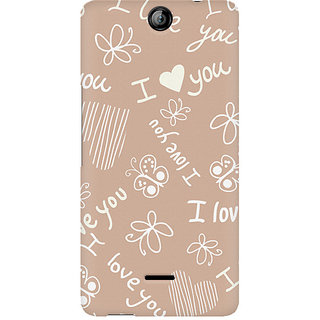 CopyCatz I Love You Premium Printed Case For Micromax Canvas Juice 3 Q392