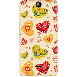 CopyCatz Love Abstract Premium Printed Case For Micromax Canvas Juice 3 Q392