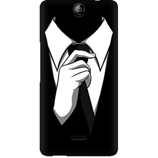 CopyCatz Black Tie Premium Printed Case For Micromax Canvas Juice 3 Q392