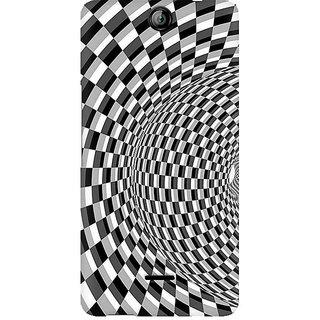 CopyCatz Illusion Checks Premium Printed Case For Micromax Canvas Juice 3 Q392