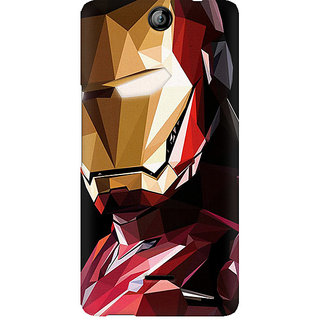 CopyCatz Iron Man Abstract Premium Printed Case For Micromax Canvas Juice 3 Q392