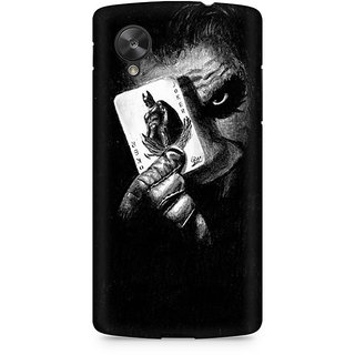 CopyCatz Joker With Batman Card Premium Printed Case For LG Nexus 5