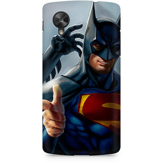 CopyCatz Superman With Batman Mask Premium Printed Case For LG Nexus 5