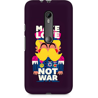 CopyCatz Make Love Not War Premium Printed Case For Moto X Play