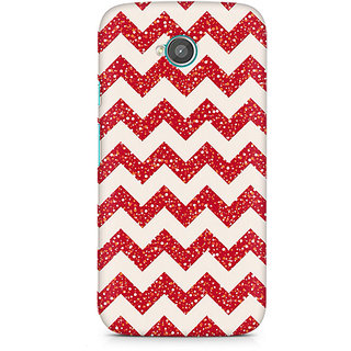 CopyCatz Red Glitter Chevron Premium Printed Case For Moto E2