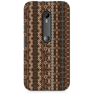 CopyCatz Brown Tribal Strips Premium Printed Case For Moto X Play