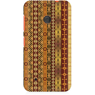 CopyCatz Orange Tribal Strips Premium Printed Case For Nokia Lumia 530
