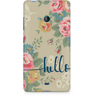 CopyCatz Flowery Hello Premium Printed Case For Nokia Lumia 540