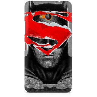 CopyCatz Batman With Superman Logo Premium Printed Case For Nokia Lumia 640