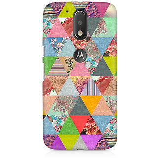 CopyCatz Colorful Triangles Premium Printed Case For Moto G4/G4 Plus