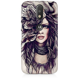 CopyCatz Crazy Hairy Girl Premium Printed Case For Moto G4/G4 Plus