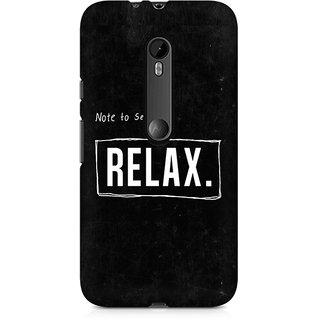 CopyCatz Just Relax Premium Printed Case For Moto X Force