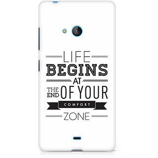 CopyCatz Out Of The Comfort Zone Premium Printed Case For Nokia Lumia 540