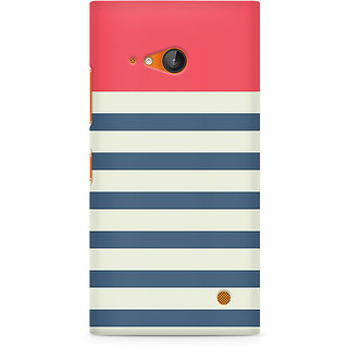 CopyCatz Stripes Pink Premium Printed Case For Nokia Lumia 730
