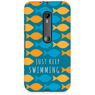 CopyCatz Just Keep Swimming Premium Printed Case For Moto X Force