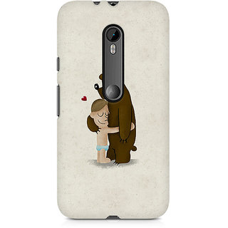 CopyCatz Bear Hug Premium Printed Case For Moto X Play