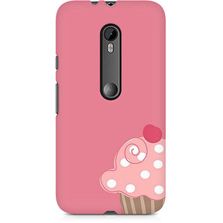 CopyCatz Cute Cupcake Pink Premium Printed Case For Moto X Play