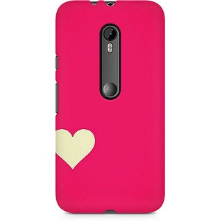 CopyCatz Pink Heart Premium Printed Case For Moto X Force