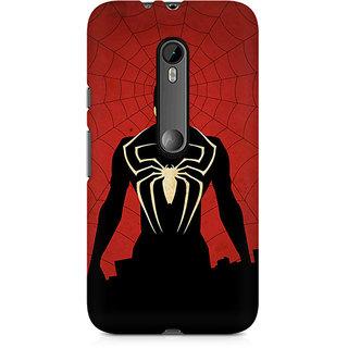 CopyCatz Spiderman In Black Premium Printed Case For Moto X Force