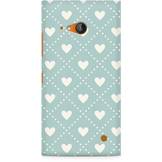 CopyCatz Heart Vintage Premium Printed Case For Nokia Lumia 730