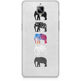CopyCatz Five Shades Of Elephants Premium Printed Case For OnePlus Three