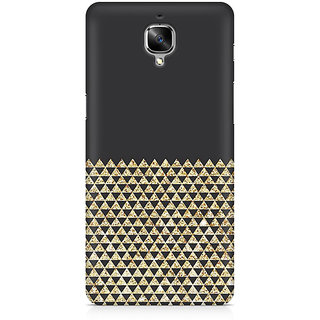 CopyCatz Golden Honeycomb Premium Printed Case For OnePlus Three
