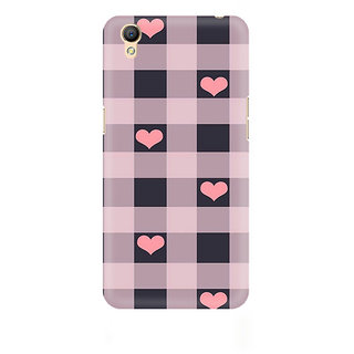 CopyCatz Checksy Hearts Premium Printed Case For Oppo A37