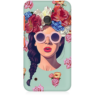 CopyCatz Floral Girl Premium Printed Case For Nokia Lumia 530