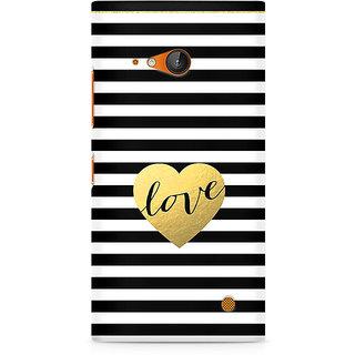 CopyCatz Black And White Gold Love Premium Printed Case For Nokia Lumia 730
