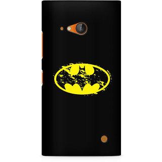 CopyCatz Flourished Yellow Batman Premium Printed Case For Nokia Lumia 730