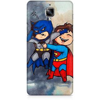 CopyCatz Batman And Superman Kids Premium Printed Case For OnePlus Three