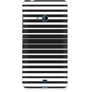 CopyCatz Black And White Stripes Premium Printed Case For Nokia Lumia 540