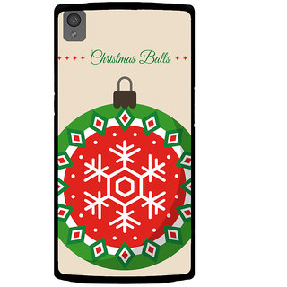 Ayaashii Chirstmas Balls Back Case Cover for One Plus X::One + X