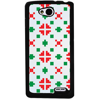 Ayaashii Red Green Logo Pattern Back Case Cover for LG L90