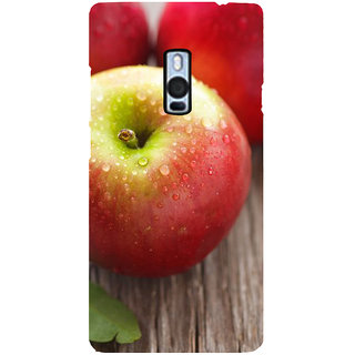 Ayaashii Fresh Apple Back Case Cover for One Plus Two::One Plus 2::One+2