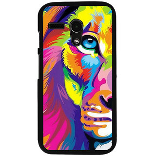 Ayaashii Animated Lion Face Back Case Cover for Motorola Moto G X1032::Motorola Moto G (1st Gen)