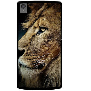 Ayaashii Lion Face Back Case Cover for One Plus X::One + X