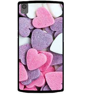 Ayaashii Heart Shape Cuts Back Case Cover for One Plus X::One + X
