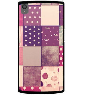 Ayaashii Different Squre Shapes Pattern Back Case Cover for One Plus X::One + X