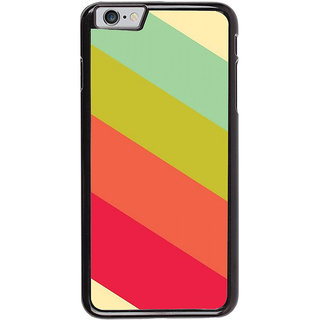 Ayaashii Colorful Strips Back Case Cover for Apple iPhone 6