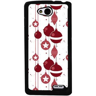 Ayaashii Chirstmas Balls Pattern Back Case Cover for LG L90
