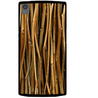 Ayaashii Bamboo Sticks Paattern Back Case Cover for One Plus X::One + X